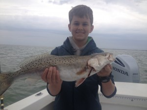 Great young angler with a heck of a speck!