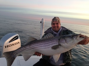 Even a Pittsburg Steeler lineman can catch a big one!!!!!  Good stuff!