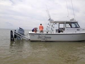 My Judge 27 Chesapeake is a shallow water fish catching machine!