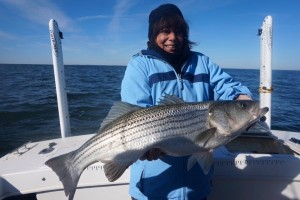 fish is bigger than her!